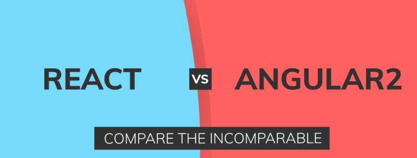 React vs Angular compare - header image