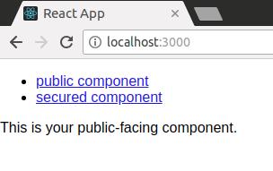 react app on localhost:3000