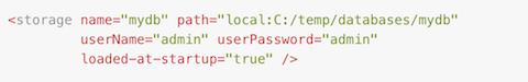 storage config code