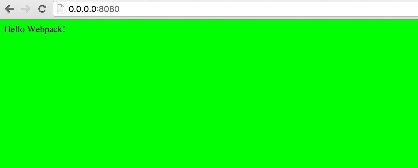 webpack result preview